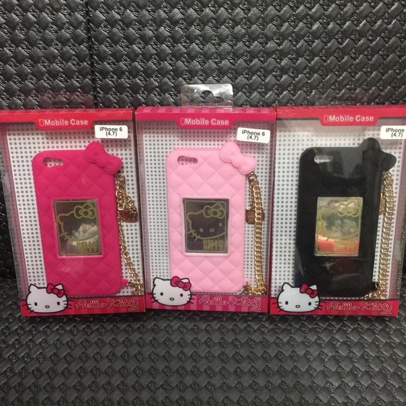Hello kitty 凱蒂貓錢包手鍊系列矽膠 手機殼iPhone 6 6S 4 7 吋
