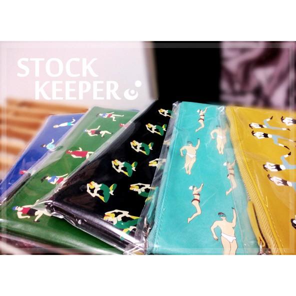 ◀倉庫掌門人▶ YIZI 系列手拿包皮革印花化妝包平板收納包ipad mini 可
