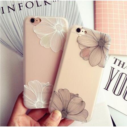 ~全包透明iphone6 手機殼蘋果6splus 保護套外殼浮雕矽膠軟夏
