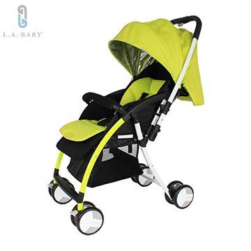 ~美國L A Baby ~超輕量雙向全罩嬰幼兒手推車Baby Stroller 螢光綠紫色
