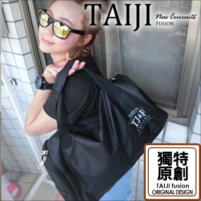 日韓風格‧TAIJI 原創素黑圓筒側背包‧一色‧~NXA0002 ~TAIJI