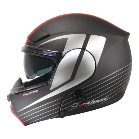 ZEUS ZS3000A GG12 彈性黑銀可輕易更換全罩與半罩內藏式遮陽鏡片