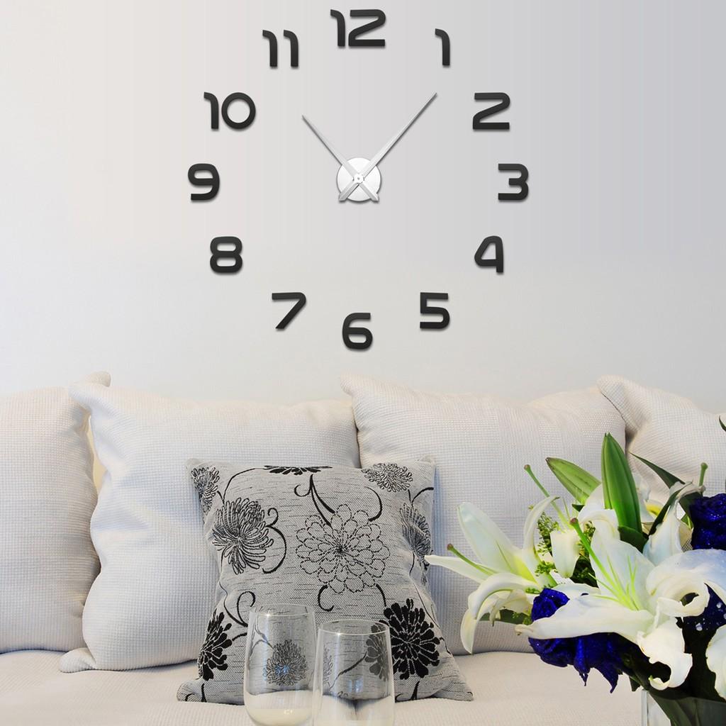 客廳藝術掛鐘 歐式壁掛錶DIY 牆貼時鐘