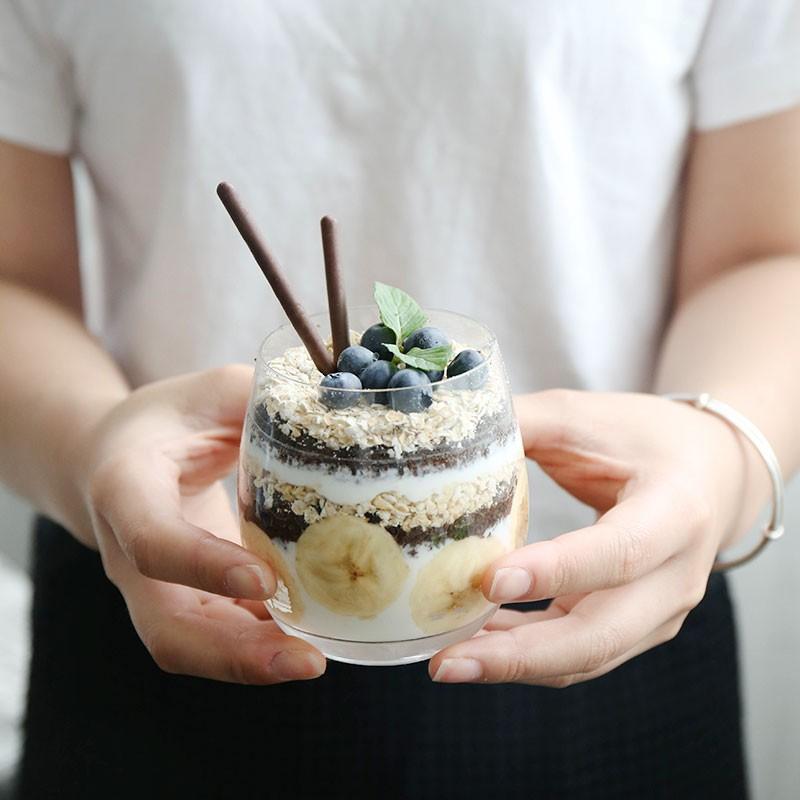 玻璃思慕雪杯水果甜品優格布丁杯果汁杯