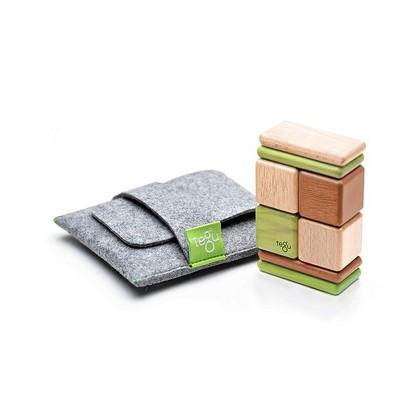 美國TEGU 無毒安全磁性積木 口袋組叢林8 件組