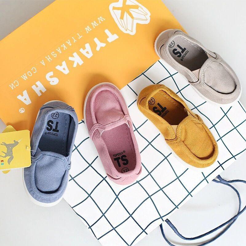 韓國TOPSTAR 超百搭 款輕便軟底帆布童鞋男女童鞋