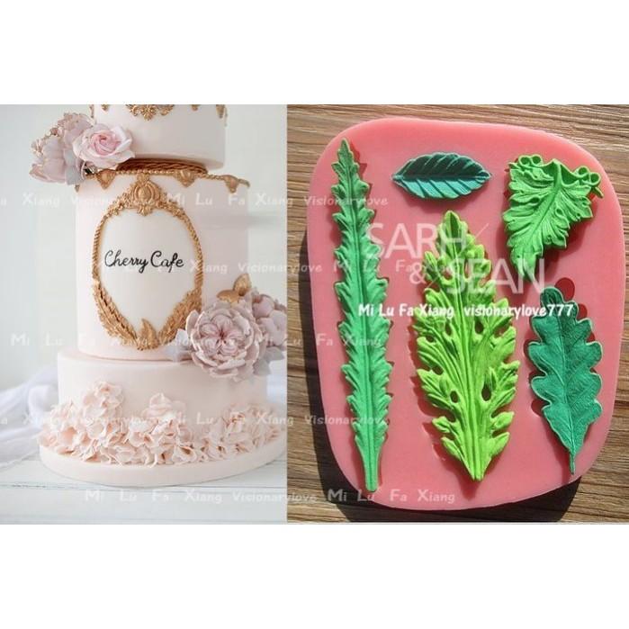 麋路花巷~古典裝飾葉子翻糖蛋糕模具巧克力模黏土模果凍模麵包花模母乳皂模