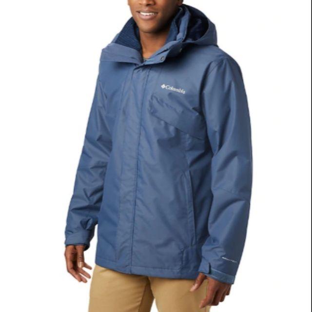Columbia哥倫比亞,男款- Omni-TECH™兩件式防水鋁點保暖外套,美版灰藍 M