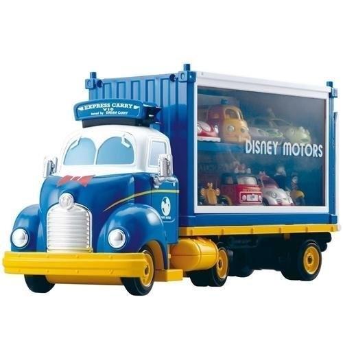 ~美國媽咪~Dream Tomica 唐老鴨夢幻展示貨車收納展示貨櫃不含小車可容納8 台小