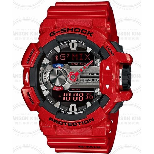 國外 CASIO G SHOCK G MIX 智慧型藍芽GBA 400 4A 紅黑手錶腕錶