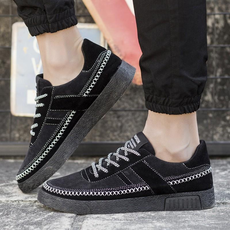男鞋低幫休閒鞋 潮流 板鞋透氣跑步鞋男士休閒鞋