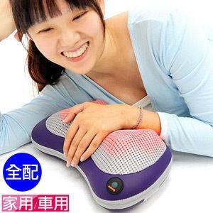 P160 CM100 舒壓溫熱按摩枕頭肩頸按摩器材肩頸按摩帶 溫熱敷揉捏按摩機器按摩用品按