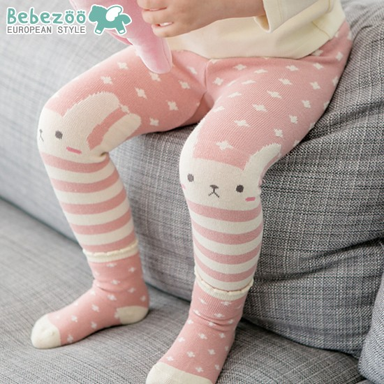 韓國Bebezoo 2016 可愛動物PP 褲內搭褲粉紅兔子