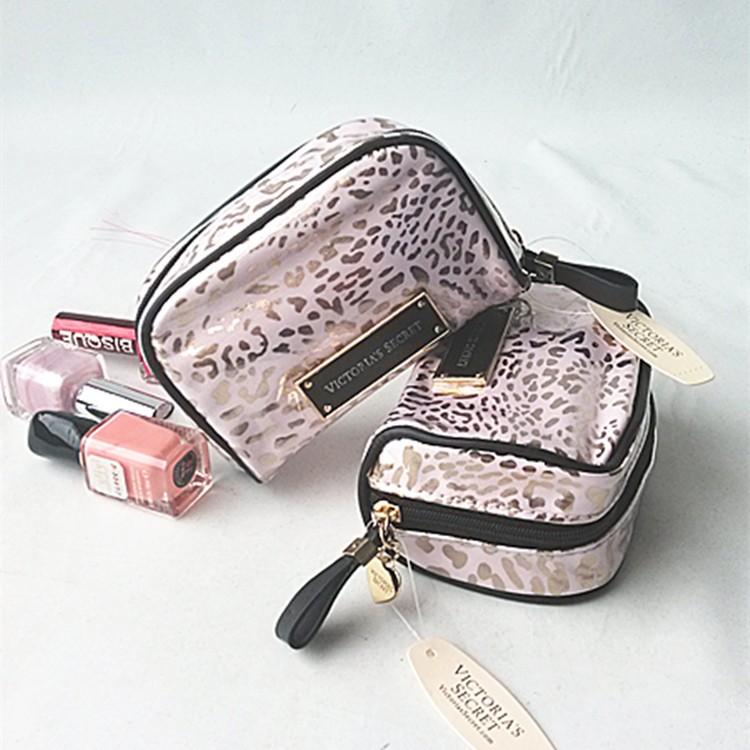 Beaute 小舖維密VS 性感豹紋化妝包粉色PINK 風格收納包專櫃贈品維多利亞的秘密V