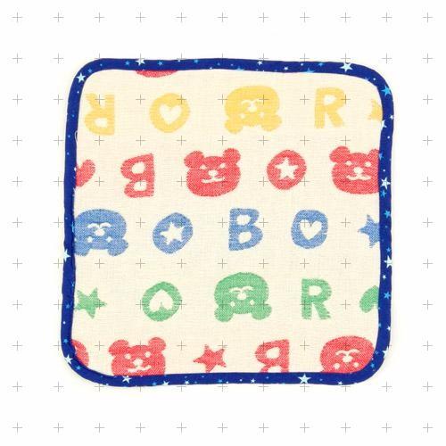 肥熊熊 製RAINBOW BEAR 彩虹熊純棉六重紗紗布巾擦拭毛巾手帕藍色