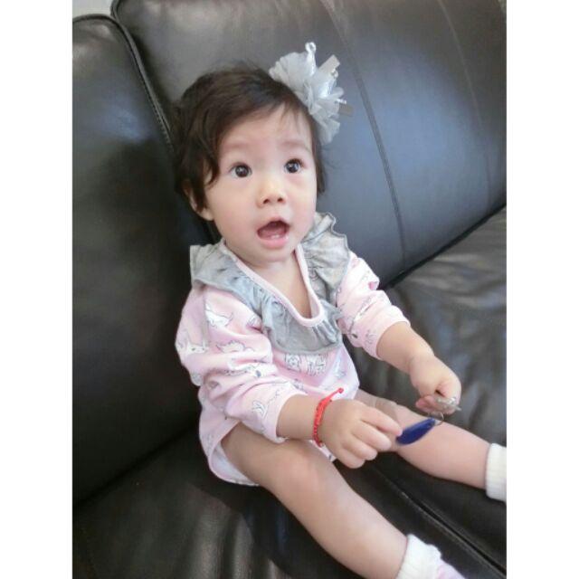 新生兒 可愛狗狗卡通純棉長袖連身衣粉色爬服哈衣寶寶女童嬰兒baby