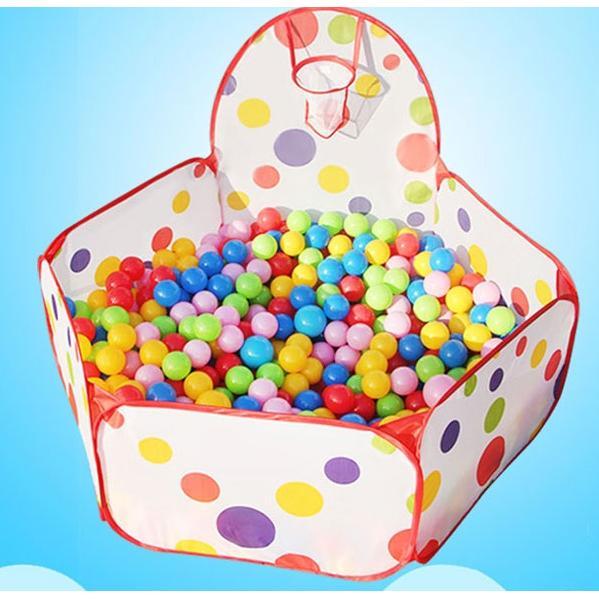 小饅頭本舖點點款六角投籃池1 2 米和1 5 米兒童玩具池海洋球池圍欄寶寶遊戲屋室內遊戲池