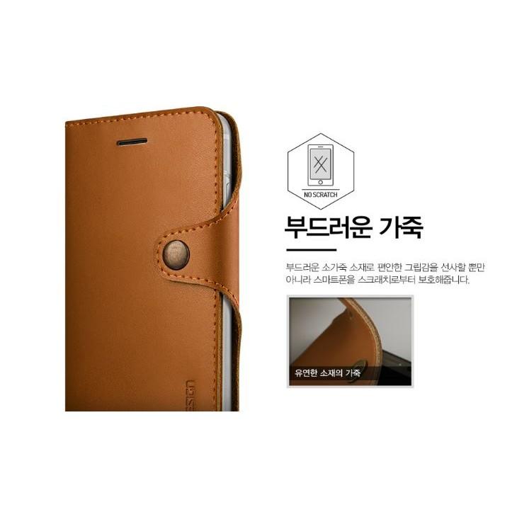 機殼工坊iphone 7 plus i7 韓國 verus 真皮鉚釘側翻手機皮套