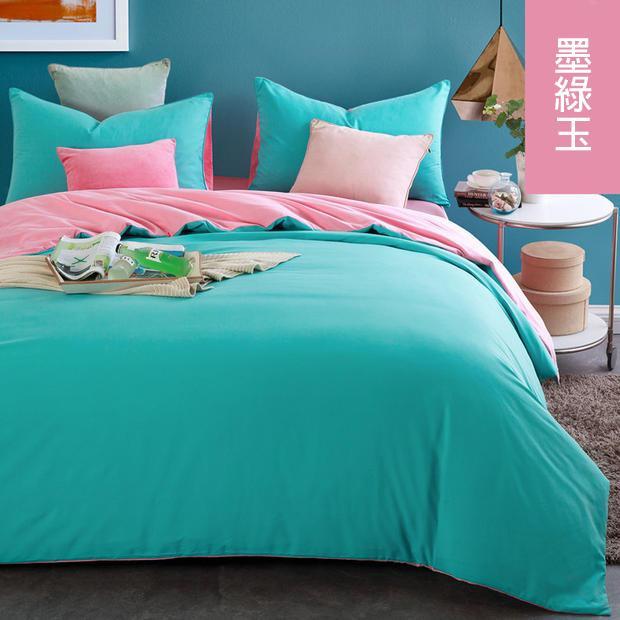 'ml 雙色素色單人床包三件組雙人床包四件組床組床套床包式