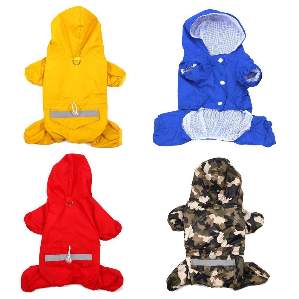 寵物小狗防水夾克反光雨衣