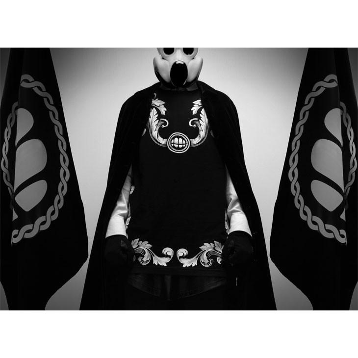 龐克潮 popping 寬鬆蝙蝠複古民族風花型落肩七分袖T 恤