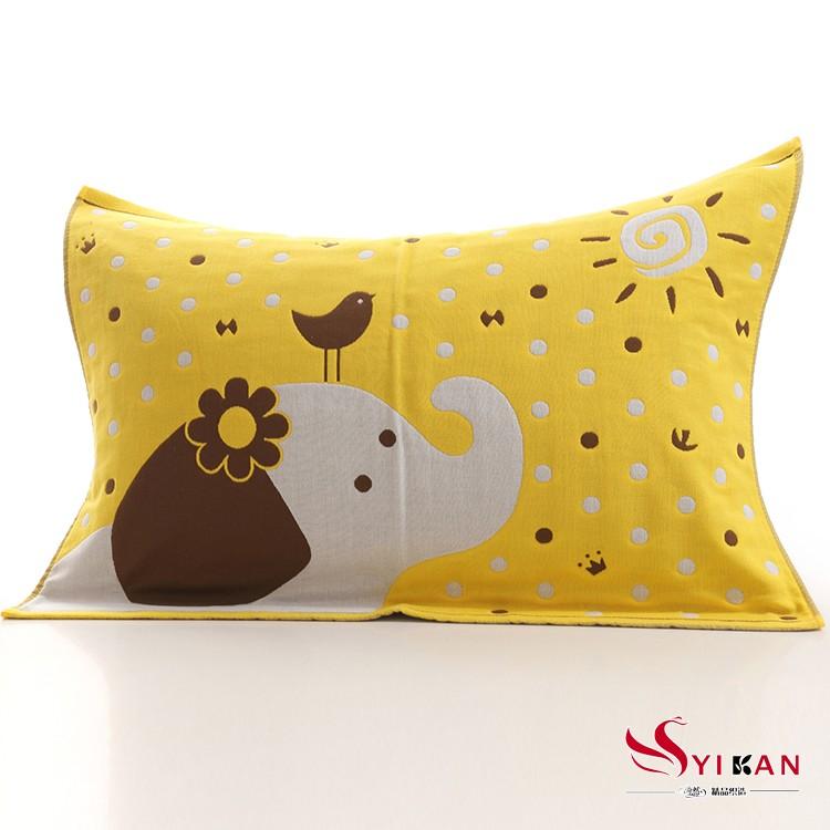 五層紗布純綿枕巾枕頭巾雙面 四季皆宜透氣柔軟舒適大象50 75CM