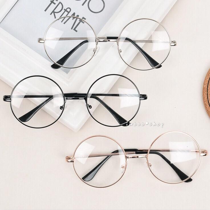 韓國文藝風格金屬平光鏡框圓形細框眼鏡框學院風小圓框近視配度數 眼鏡 框大框方框78