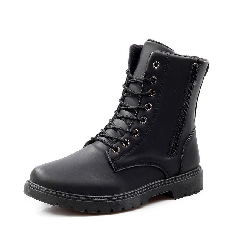 馬丁靴軍靴潮流 男鞋皮靴特種兵工裝短靴高幫男靴子