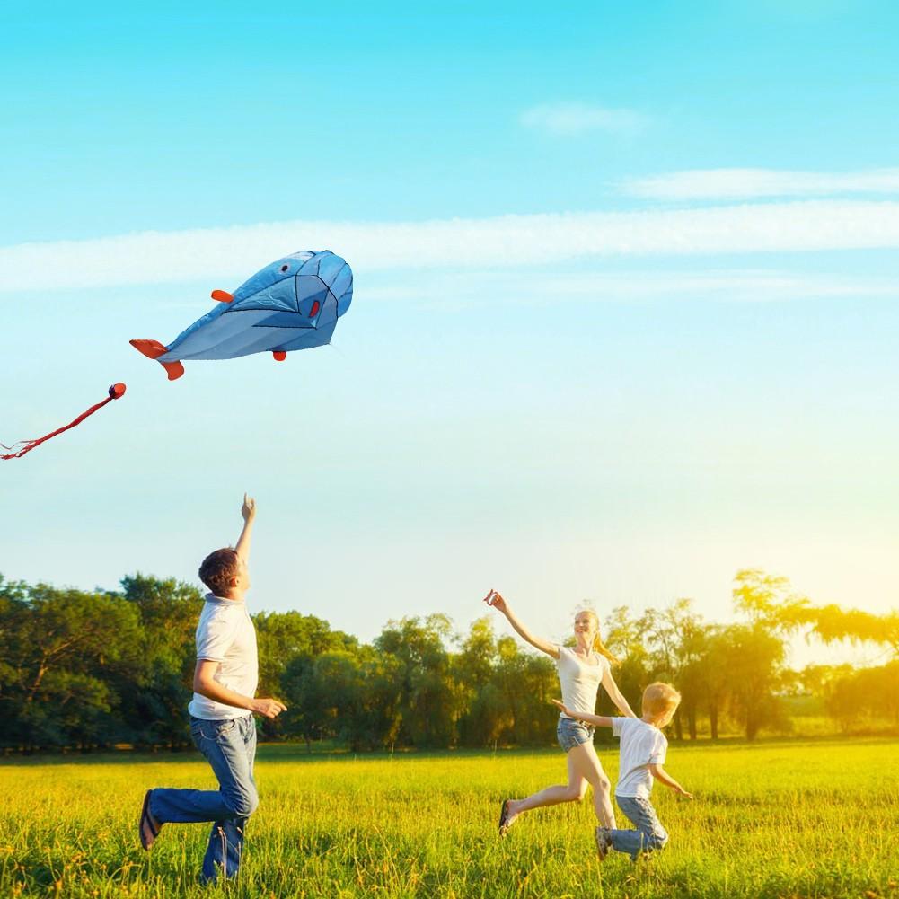 爆款軟體風箏海豚風箏折疊體積小攜帶方便藍色款式