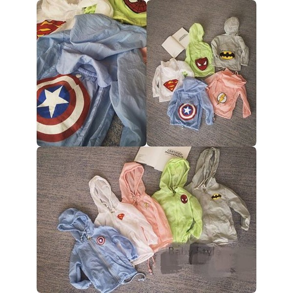American Heros 系列的防曬外套好可愛又好man 藍粉白少量