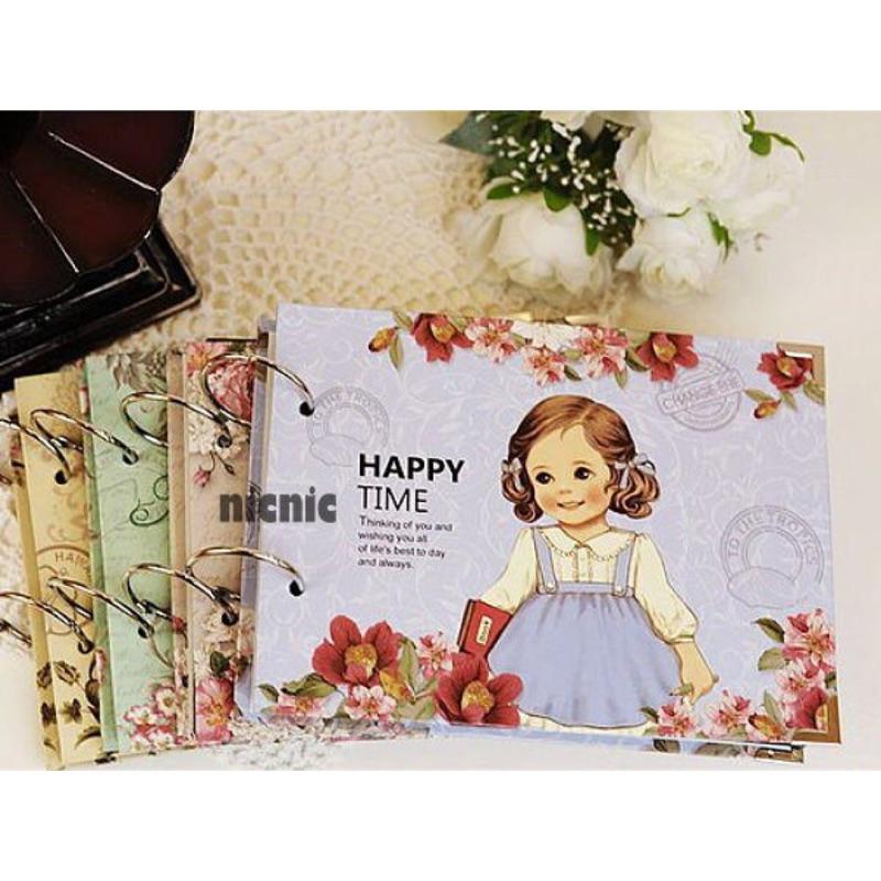 ~╮元町小舖╭~韓國可愛女孩洋娃娃DIY 粘貼式包角相冊送角貼 相冊可超取