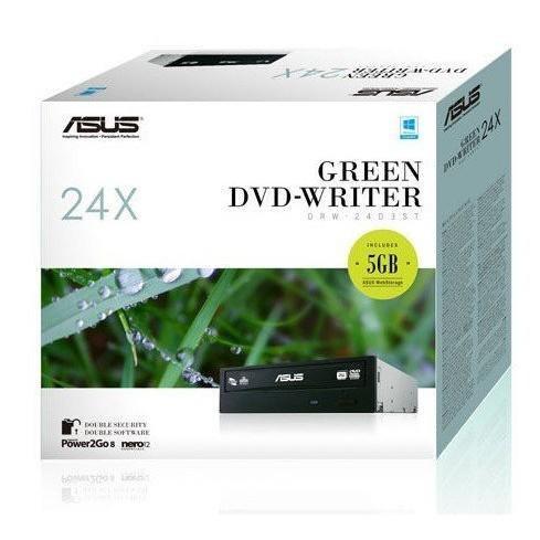 ASUS 華碩DRW 24D5MT SATA 24X DVD 燒錄機~黑~