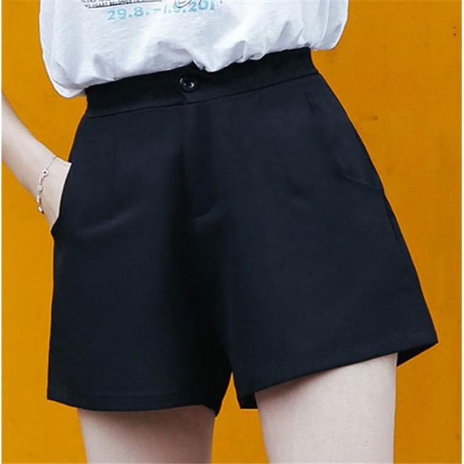 ~ ~高腰寬鬆顯瘦西裝褲女短褲熱褲休閒短褲簡約