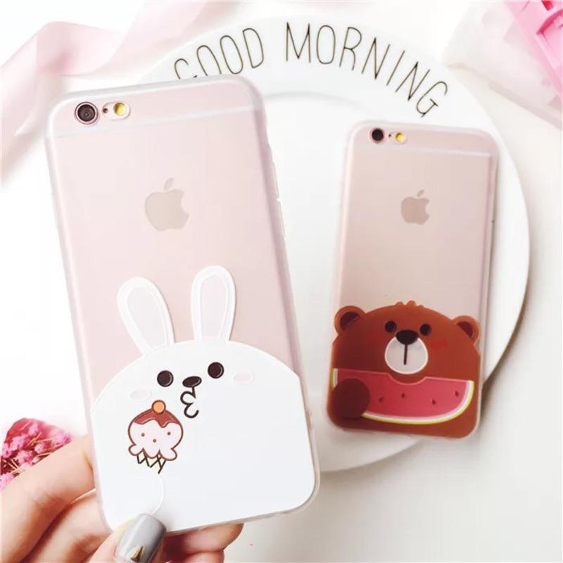 ~84 , 看首頁~ iPhone 6 iPhone 7 plus 手機殼軟殼膠殼兔兔小熊
