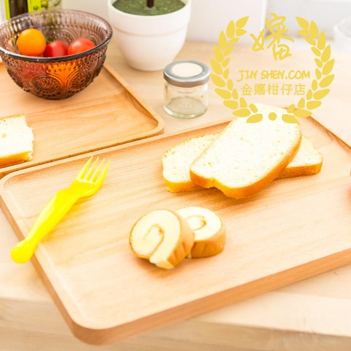 34 公分Zakka 木質實木大尺寸點心盤湯匙麵包板木盤托盤美式餐盤甜點盤沙拉輕食
