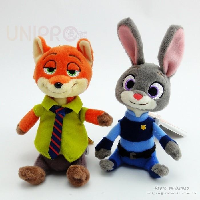 迪士尼 動物方城市Zootopia 胡尼克Nick 狐狸哈茱蒂兔子快俠樹獺樹懶娃娃玩偶珠鍊