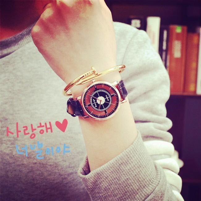超薄皮帶復古鏤空男女手錶 潮流 潮錶情侶對錶男錶女錶情人節送禮