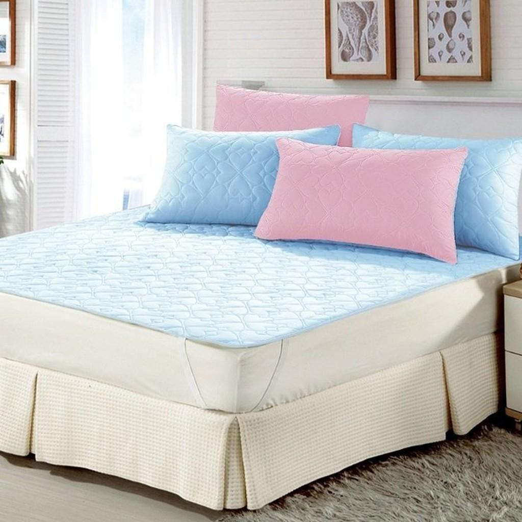 幸運草3M 表布防潑水處理枕套買一個送一個藍色粉紅雙色 B0609 NP