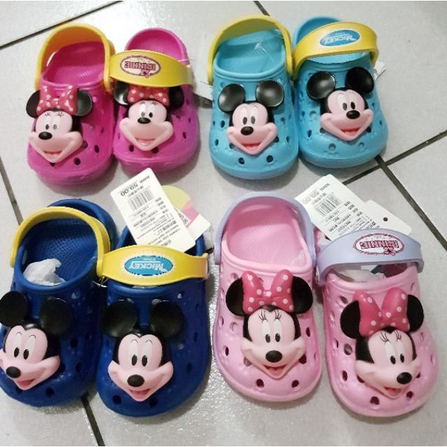 迪士尼洞洞鞋~ 正品~立體米奇米妮 寶寶防滑洞洞鞋兒童涼拖鞋男女童鞋嬰兒學步鞋涼鞋