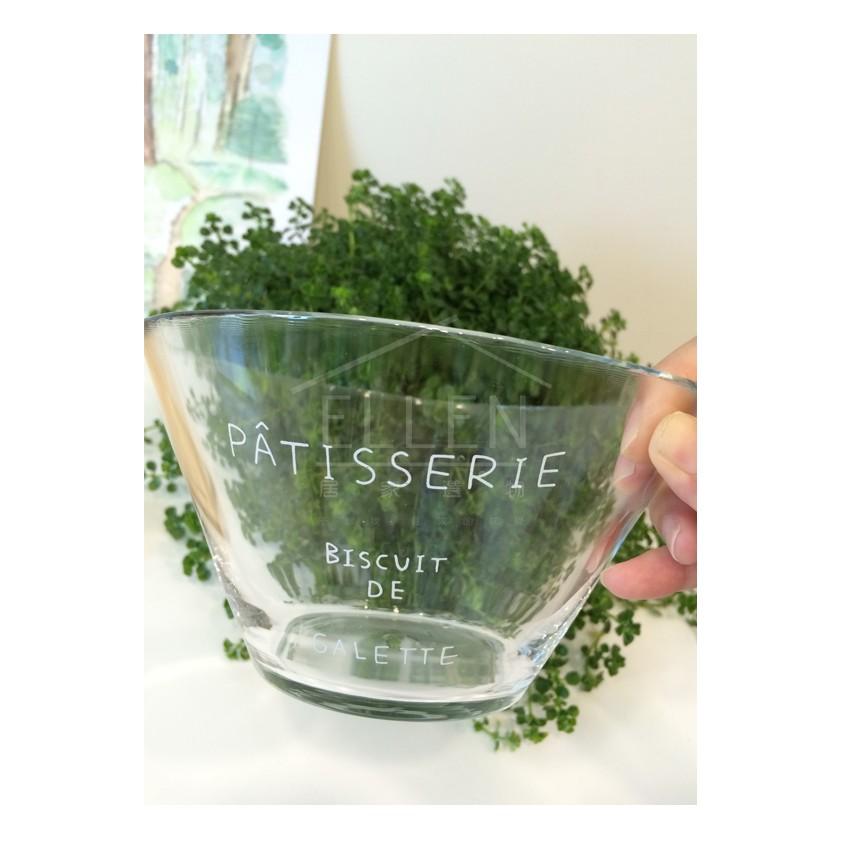 •Ellen 居家選物•玻璃法文字母沙拉碗(甜點水果碗