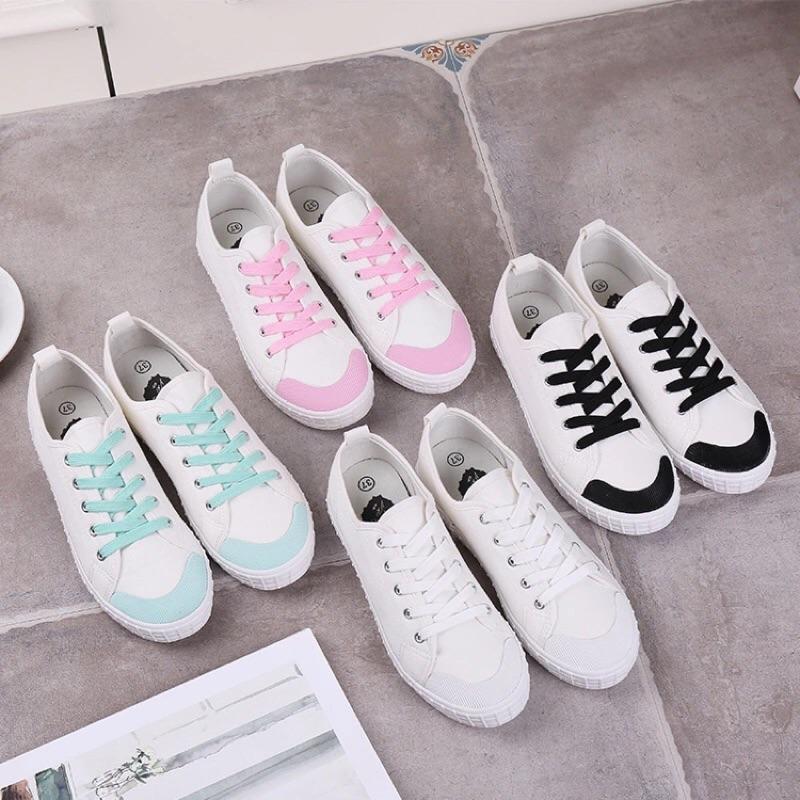 韓國 ulzzang 帆布鞋小白鞋2016 上市量大可 尺寸35 40 平底白布鞋學院風簡
