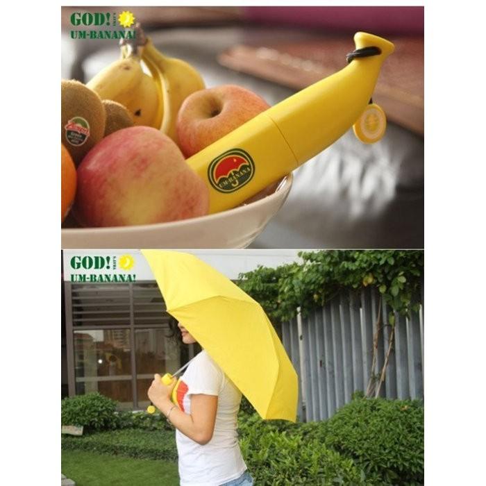 雨傘 香蕉傘三摺傘晴雨傘小清新學生防曬傘 裝 傘 請