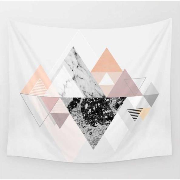 北歐風格波西米亞風抽象幾何印花家居掛毯壁掛壁飾沙灘巾沙灘坐毯掛布掛毯壁毯沙發罩背景牆沙發巾