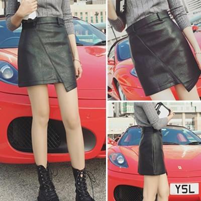 包裙不規則高腰皮裙大碼PU 皮裙包臀顯瘦半身裙短裙寬褲褲裙長洋裝背心吊帶裙襯衫套裝長版連身
