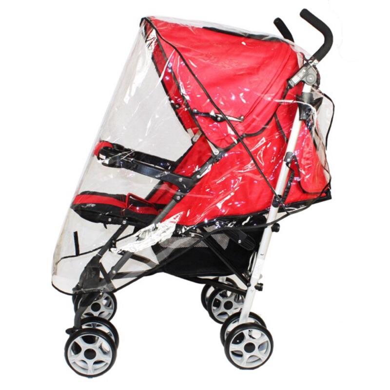 加大 型yoyo 車型 型加大嬰兒手推車雨罩加厚童車防風雨罩寶寶傘車雨衣罩 擋風雨披