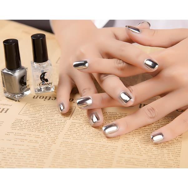 鏡面銀色金屬色指甲油12ml