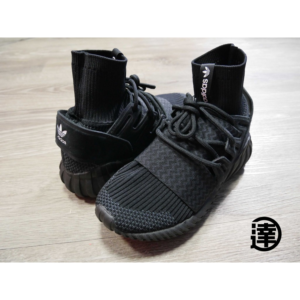 達克 adidas tubular doom pk 編織 全黑黑武士襪套s80508 正品