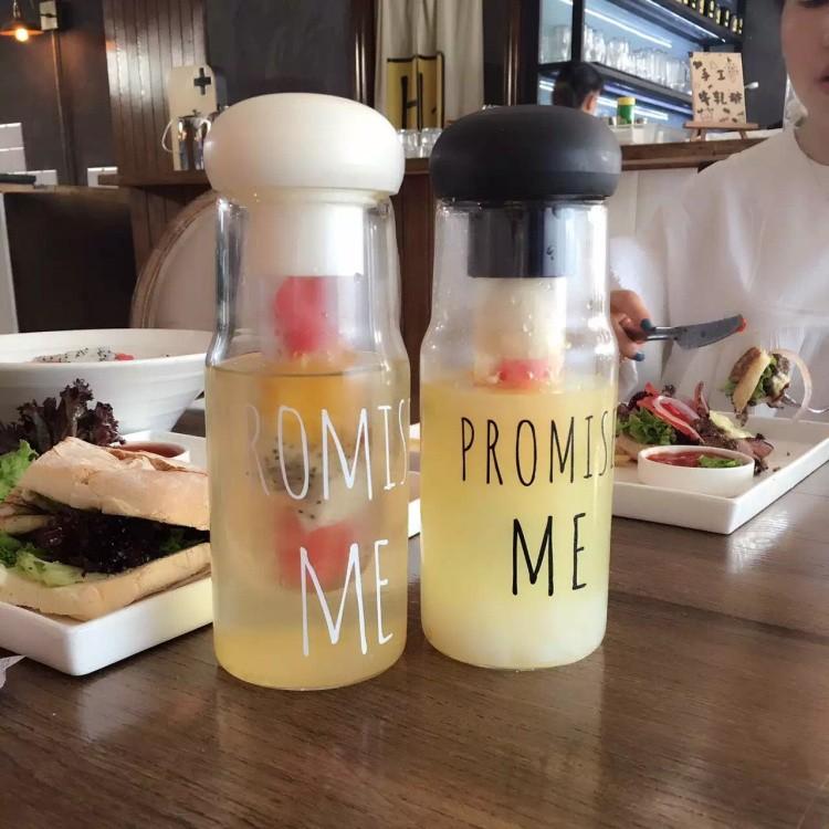 GD 韓國 玻璃杯promise me 玻璃杯果汁杯泡茶水杯水壺玻璃杯MY BOTTLE