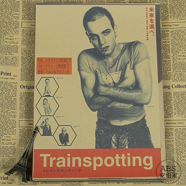 ~ABS 安伯家~復古牛皮紙海報奧黛麗赫本梅爾吉勃遜猜火車雨中的男人巴黎鐵塔
