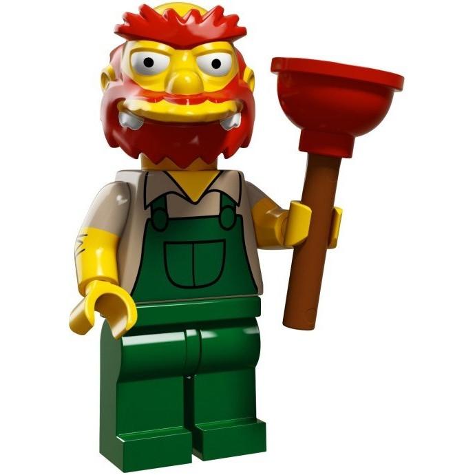 LEGO 樂高71009 辛普森 鬍鬚張校管